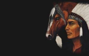 Ritratto su commissione: Apache. Paola Rava, autrice del libro il potere segreto degli animali, dipinge tele come un omaggio a questi antichi popoli per onorare la loro storia e la loro cultura